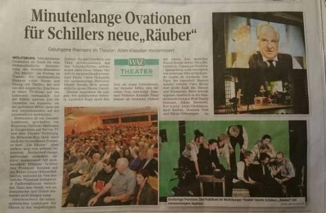 """Zeitungsartikel zu """"Die Räuber"""""""